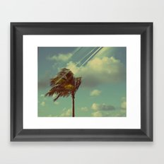 Palm in the Wind Framed Art Print