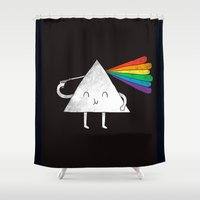 big bang Shower Curtains featuring The big bang by I Love Doodle