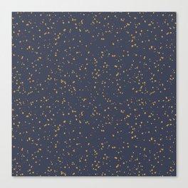 Speckles I: Dark Gold on Blue Vortex Canvas Print