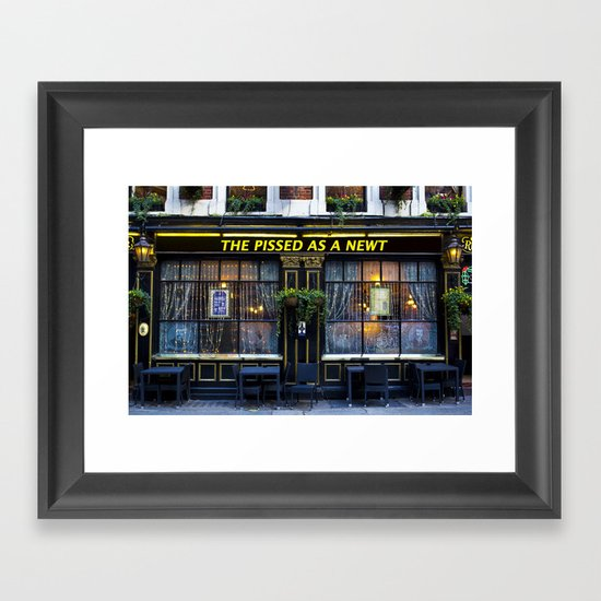The Pissed as a Newt Pub Framed Art Print