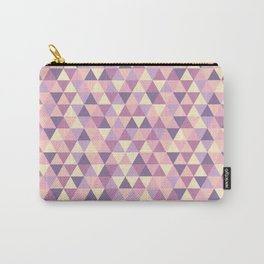 Pastel Pink Geometric Art Carry-All Pouch