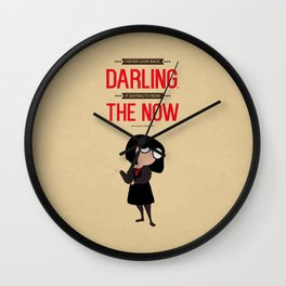 Lab No. 4 I Never Look Back Edna 'E' Mode The Incredibles Movie Quote Poster Wall Clock