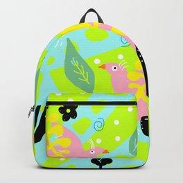 3 pink birds Backpack