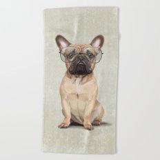 Mr French Bulldog Beach Towel