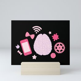 Girl's Brain Mini Art Print