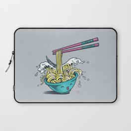 The Great Wave of Noodles with chopstick Laptop Sleeve