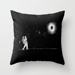 Black Hole in One Throw Pillow