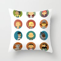 dragon age inquisition Throw Pillows featuring Cute Inquisition by Panda