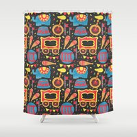 circus Shower Curtains featuring Circus by haidishabrina