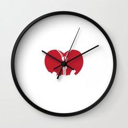 Official Member Zipper Club Heart Cardiologist For Patients Wall Clock