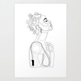 Bantu Beauty BW Art Print