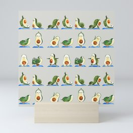 Avocado Yoga Watercolor Mini Art Print