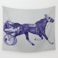 sport Wall Tapestries featuring Sport Horses by Tosasmok