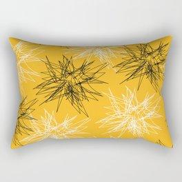Yellow Squiggles Rectangular Pillow