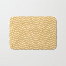Mustard Chevron Bath Mat