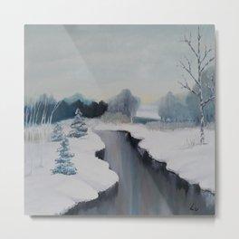 Icy River by Lu Metal Print