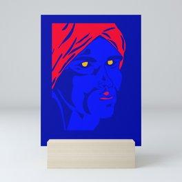 Blue Man Portrait Mini Art Print