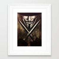 vendetta Framed Art Prints featuring VENDETTA by The Traveling Catburys