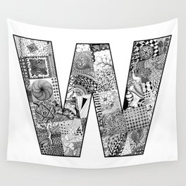 Cutout Letter W Wall Tapestry