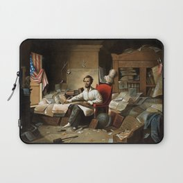 Lincoln Writing The Proclamation Of Freedom Laptop Sleeve