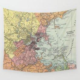 Vintage Map of Boston Massachusetts (1903) Wall Tapestry