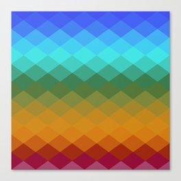 Rombs Vintage colors Canvas Print