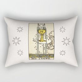 ACE OF CUPS / WHITE Rectangular Pillow