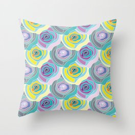 Abstract Roses Pattern Throw Pillow