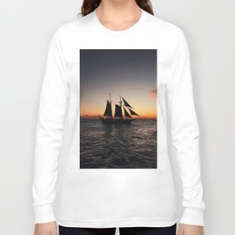 Sunset Sailboat Long Sleeve T-shirt