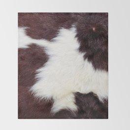 Cowhide Fur Throw Blanket