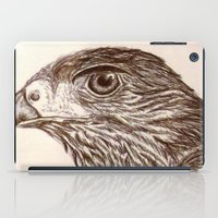 hawk iPad Cases featuring Hawk by Leslie Creveling