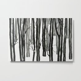 wood and snow Metal Print