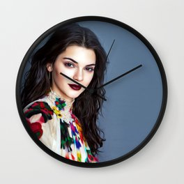 Kendall Jenner - Celebrity Art Wall Clock