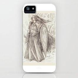 Shield Maiden of Avalon iPhone Case