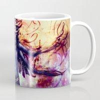 third eye Mugs featuring Third Eye by Ayula