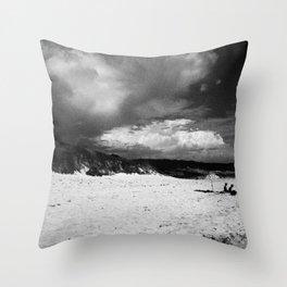 Doomsday Beach Throw Pillow