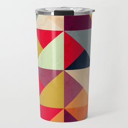 Bright Geometric Happy Pattern Travel Mug