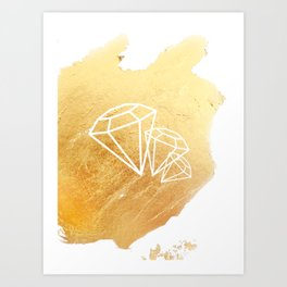 Faceted Gold Art Print