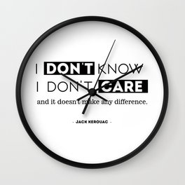 I don't know, I don't care, and it doesn't make any difference. Wall Clock