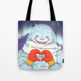 Yeti in love Tote Bag