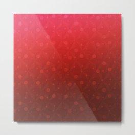 Red Tone on Tone Dots Pattern Metal Print