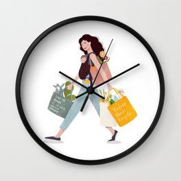 Weekend errands Wall Clock