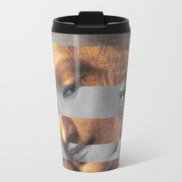 "Leonardo's ""Head of a Woman"" & Marylin Monroe Travel Mug"