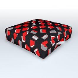 Polka Dot Books Pattern Outdoor Floor Cushion