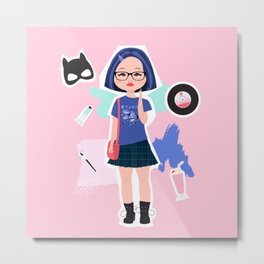 Enid from Ghost World Metal Print