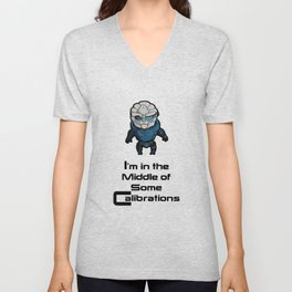 Garrus: In the middle of some calibrations Unisex V-Neck