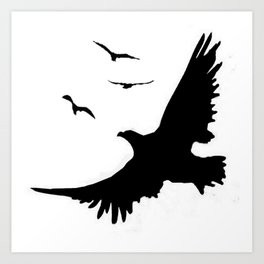 ORIGINAL DESIGN OF FLYING BLACK EAGLES ART Art Print