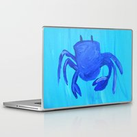 crab Laptop & iPad Skins featuring Crab by Lissasdesigns
