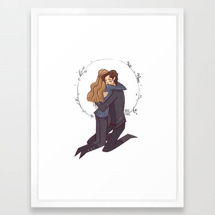 Kabby hug Framed Art Print by nicoleclowes   Society6
