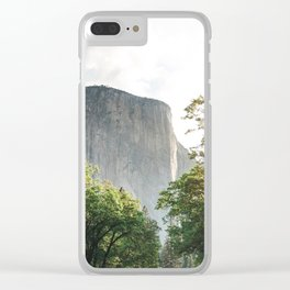 The mountain rock Clear iPhone Case